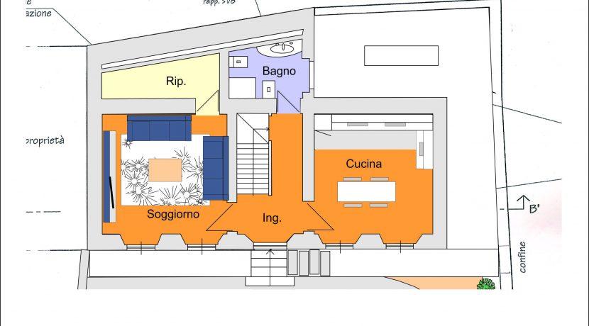 Armeno villa su tre piani con garage e giardino ortalloggi for Piani di cabina di tronchi di 2 camere da letto