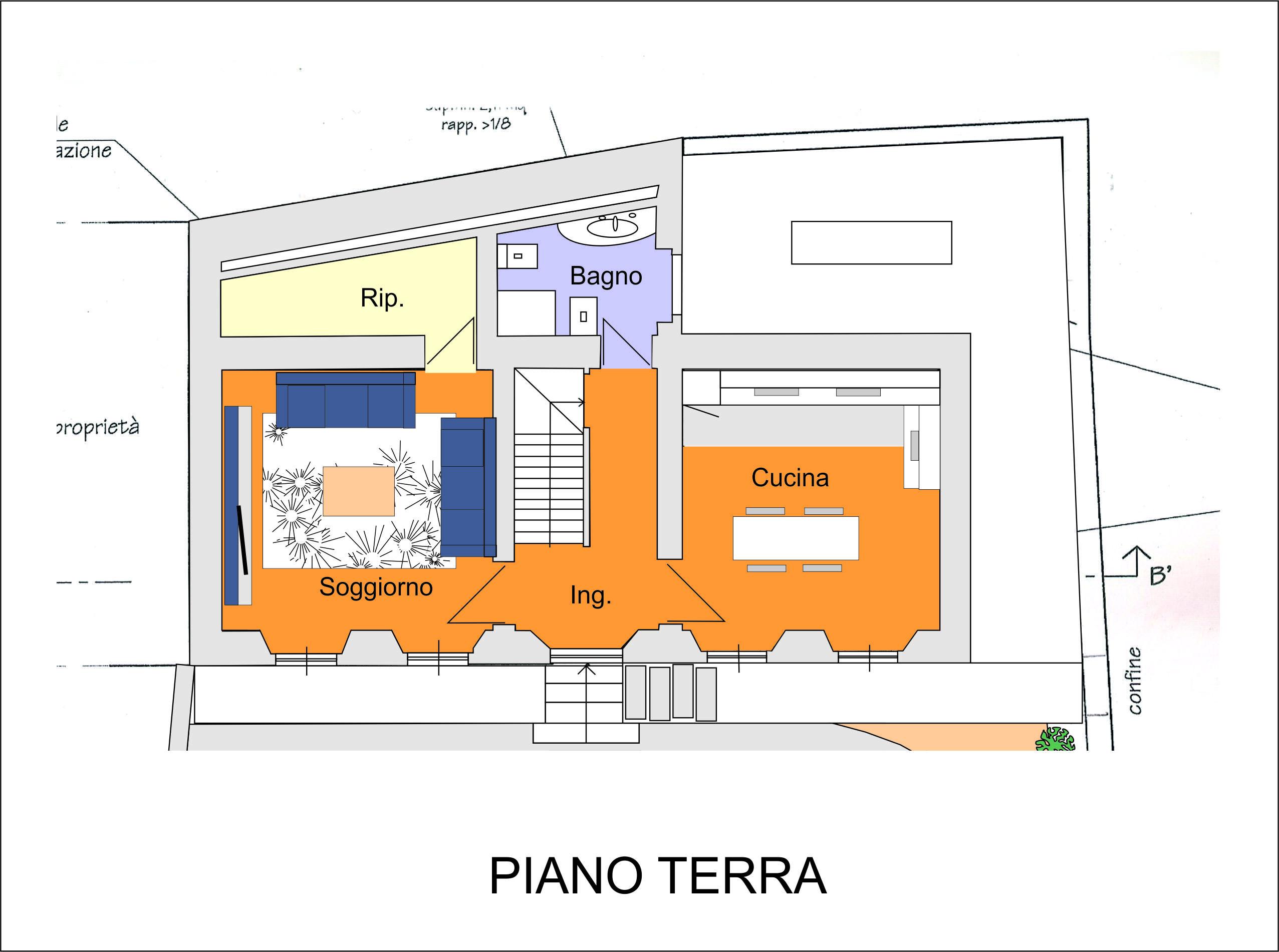 Armeno villa su tre piani con garage e giardino ortalloggi for Tre piani di garage per auto con soppalco