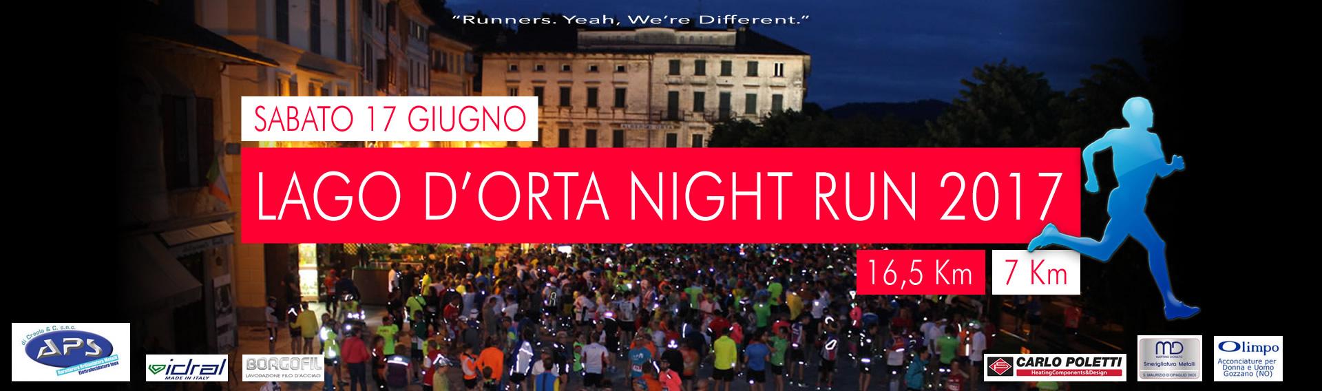 Circuito Night Run : Lake orta night run ortalloggi
