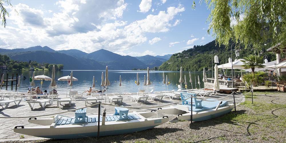 Le 5 migliori spiagge del lago d 39 orta ortalloggi for Cabine vicino al lago di conroe