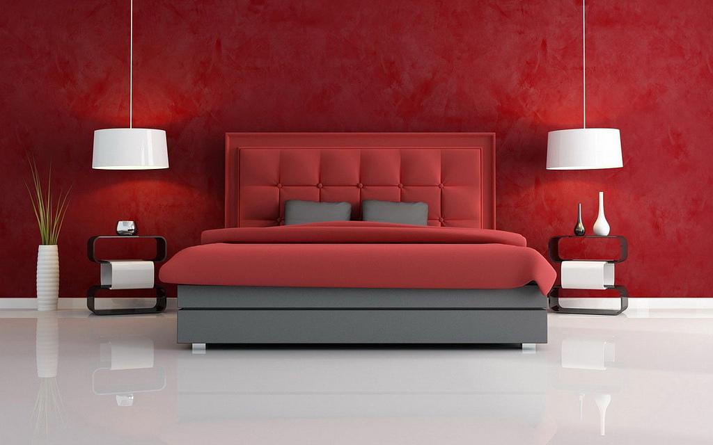 Camera Da Letto Rossa E Grigia : I colori nell arredamento rosso ortalloggi