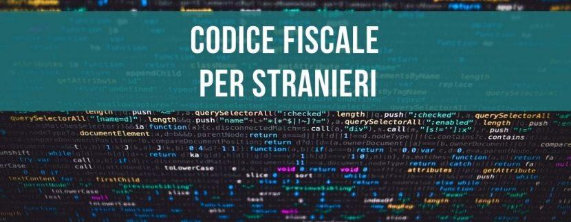 Codice fiscale per stranieri
