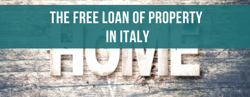 The free loan of property in Italy