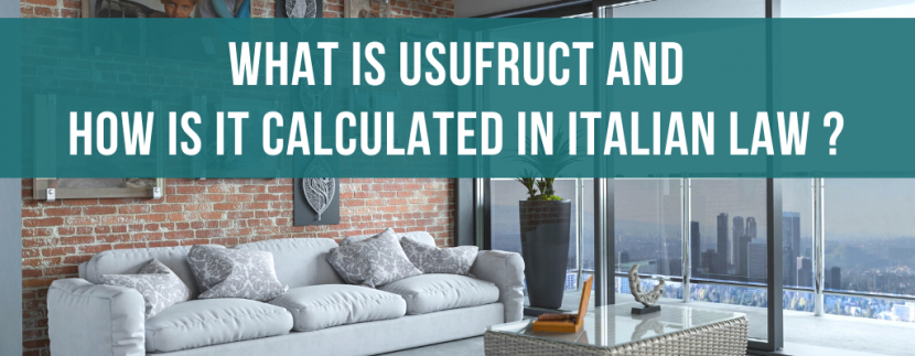 What is usufruct and how is it calculated in Italian law?