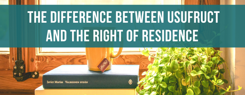 The difference between usufruct and the right of residence in Italian law